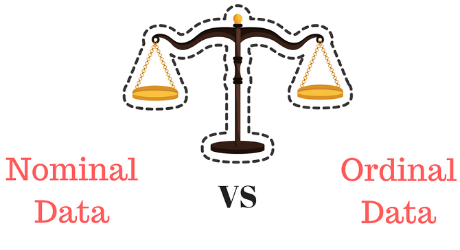 difference between nominal data and ordinal data