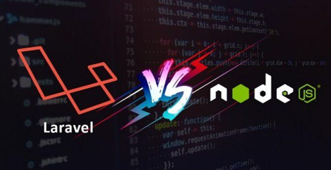 Laravel Vs Node JS - featured image